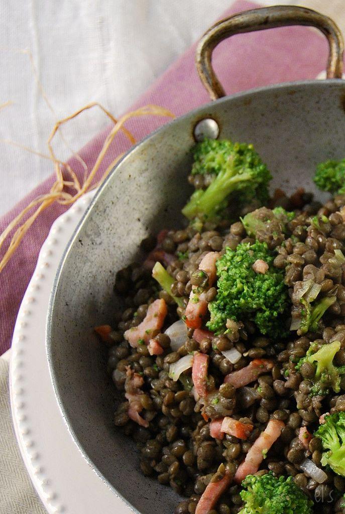 Salade De Lentilles Lardons : salade, lentilles, lardons, Recette, Salade, Lentilles, Vertes, Brocoli, Lardons, Recettes, Cuisine,, Lentilles,