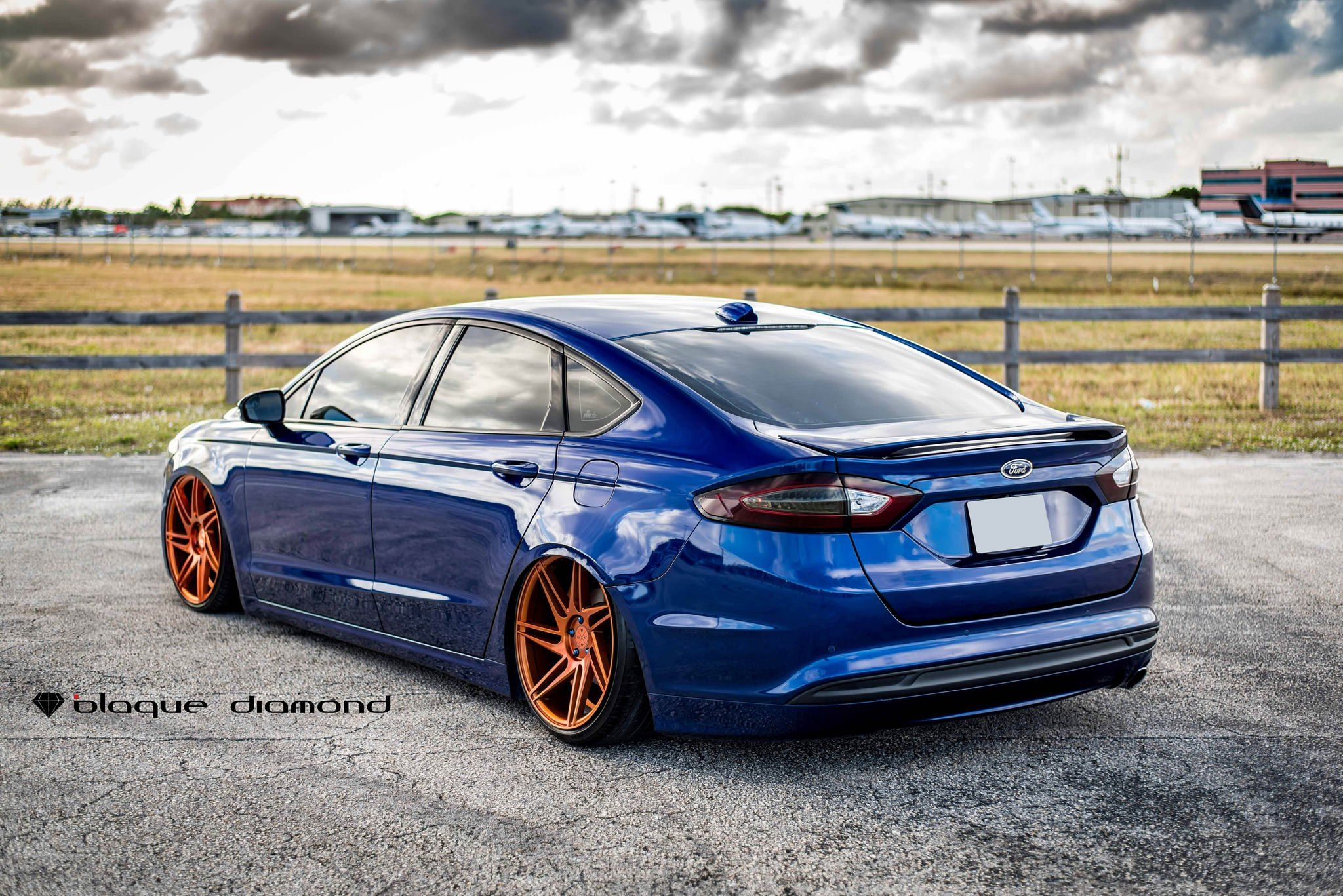 Slammed Ford Fusion On Insane Rims By Black Diamond Ford Fusion