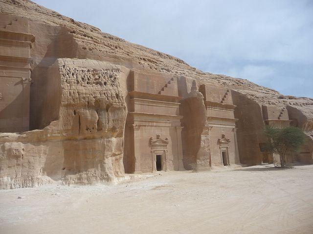 The Nabatean tombs of Mada'in Saleh in Saudi Arabia (by AramcoBrats).