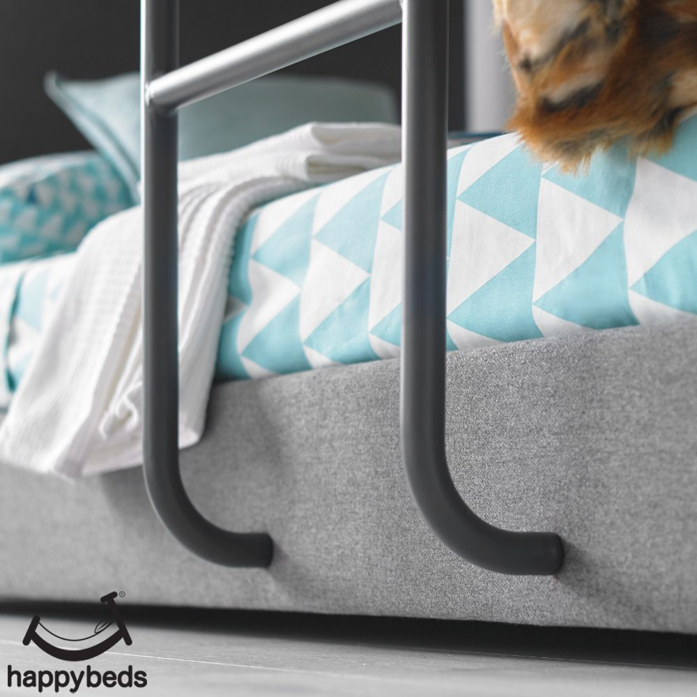 Saturn Grey Fabric Bunk Bed Bunk Beds Wooden Bunk Beds Grey