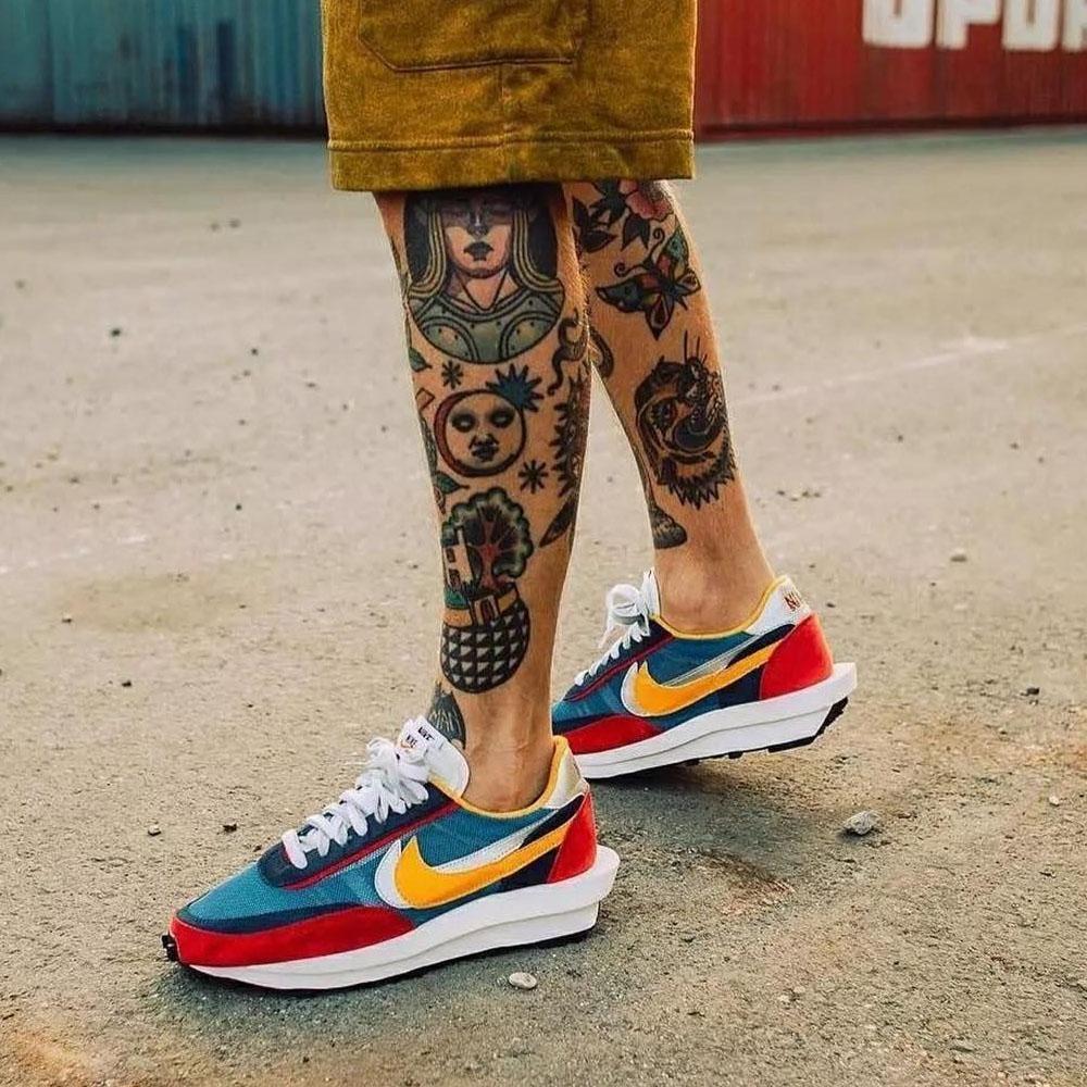 Sacai x Nike LDV Waffle Daybreak Blue
