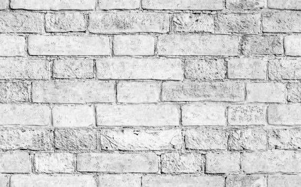 White Brick Wall Seamless Texture White Brick Wallpaper White Wash Brick Removable Brick Wallpaper