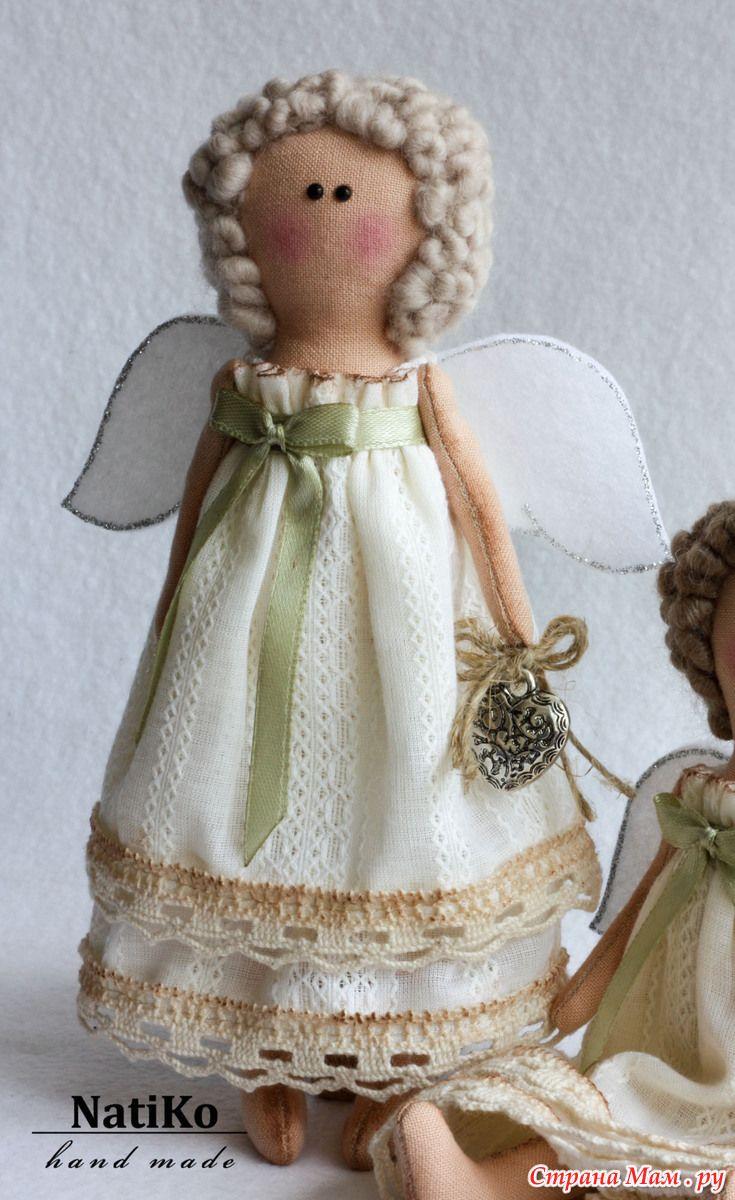 Фото кукла ангел своими руками из ткани | Anjos e Feltro