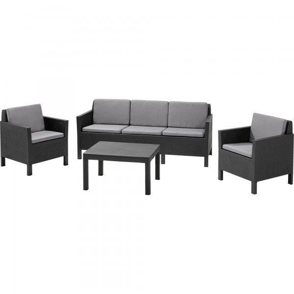 Allibert Keter Chicago 5 Seat Lounge Set | JTF | Garden ...