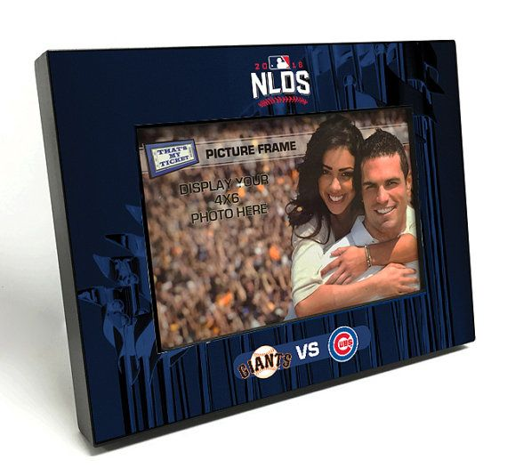 2016 MLB NLDS 4x6 Wooden Picture Frame - Giants vs Cubs