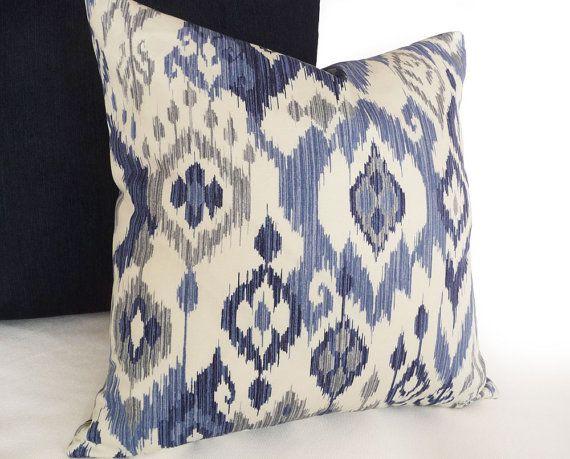 Blue Ikat Pillows Ikat Pillow Covers Blue White Pillows
