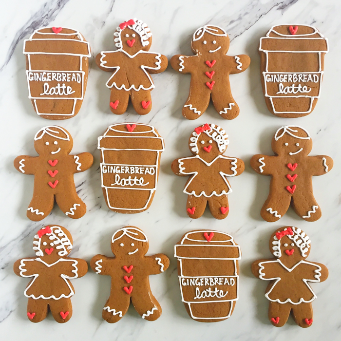 Gingerbread Lattes Decorated Cookies