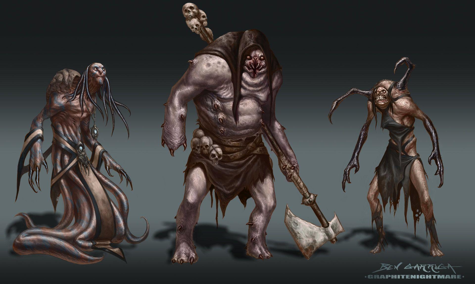 monster character design horror undead concept grave ruin  - Horror Characters, Ben Garriga