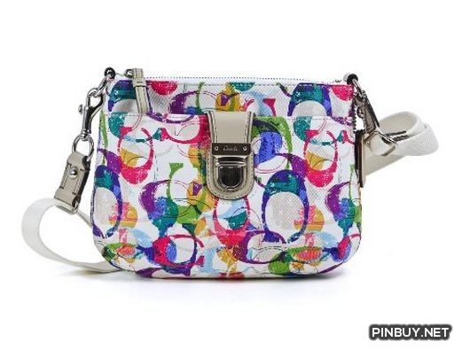 657b82fc16 Coach Poppy Stamped C Signature Swingpack Crossbody Bag 49202 Multicolored  - Cross Body - Bags and Purses