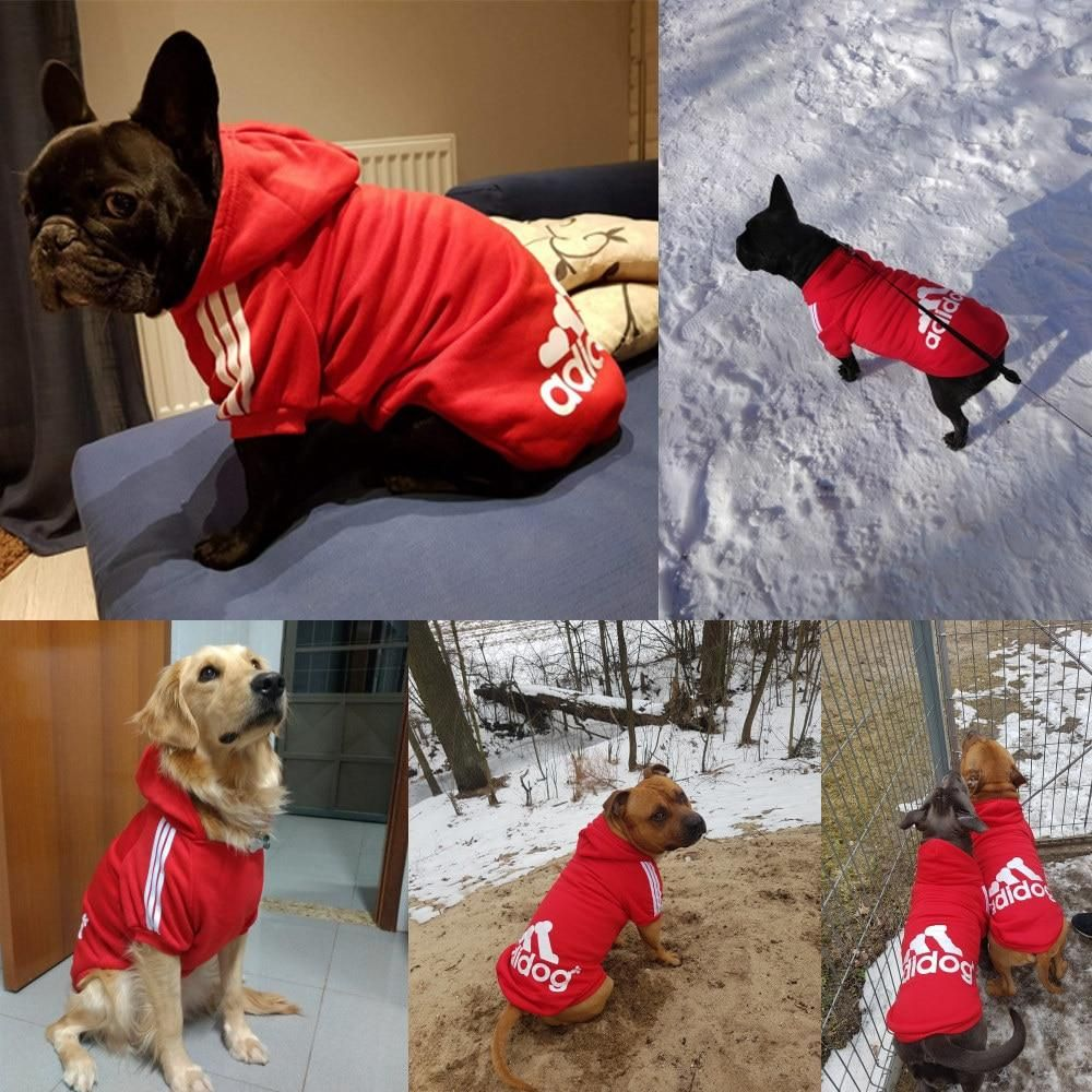 Pet Dog Clothes For Large Dogs French Bulldog Dog Hoodies Winter
