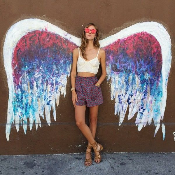 a89c7710d1ae7 Angle Wing Mural, Angel City Brewery: Alameda + Traction - Amongst all the  street art in LA these wings literally capture the essence of being in the  City ...