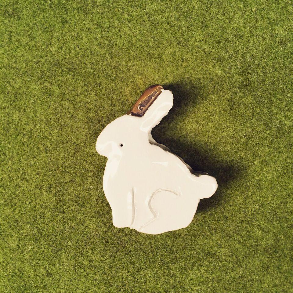 Ceramic rabbit gold edition