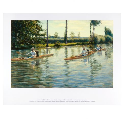 Caillebotte: Boating on the Yerres, 11 x 14 Print, $10.95