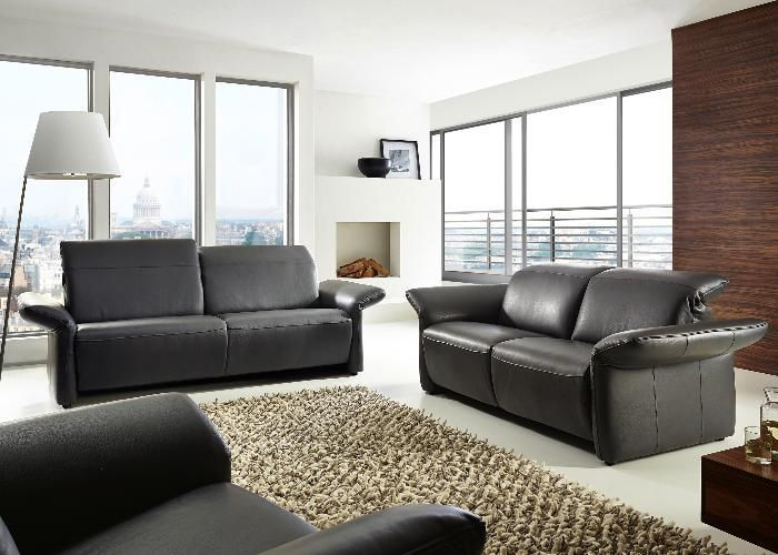 sofagarnitur vamos mit elektrischer relaxfunktion tolles leder sehr bequem. Black Bedroom Furniture Sets. Home Design Ideas