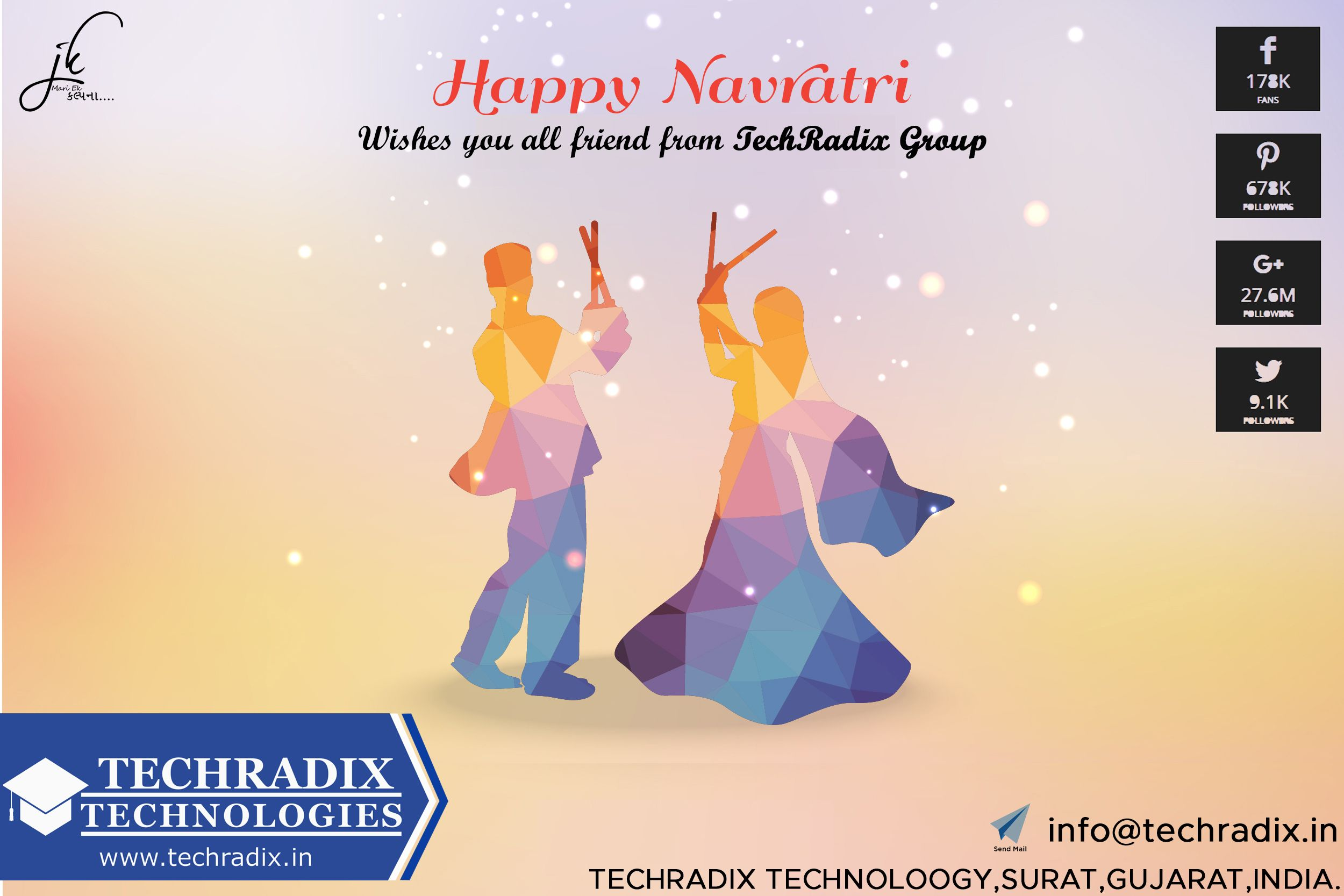 happy Navratri              | Techradix | Technology, Web