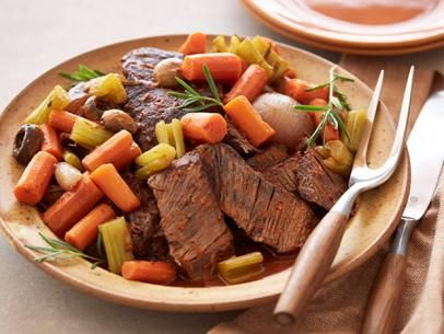 Get this all-star, easy-to-follow Braised Pot Roast with Vegetables recipe from Tyler Florence