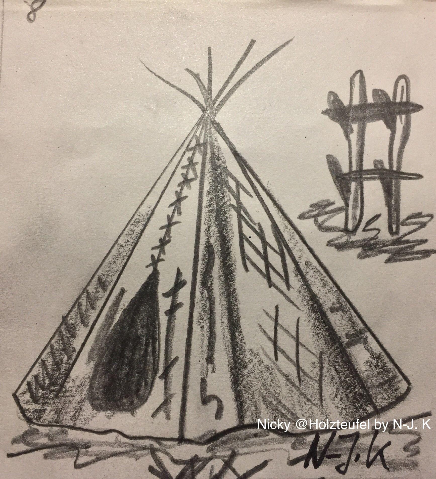 tipi indianer zelt 14 zeichnungen nicky holzteufel nj k