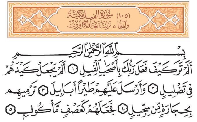 سورة الفيل Quran Verses Verses Quran