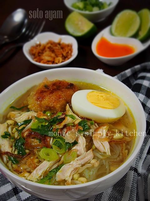 Soto Ayam Bening Makan Malam Makanan Dan Minuman Resep Masakan