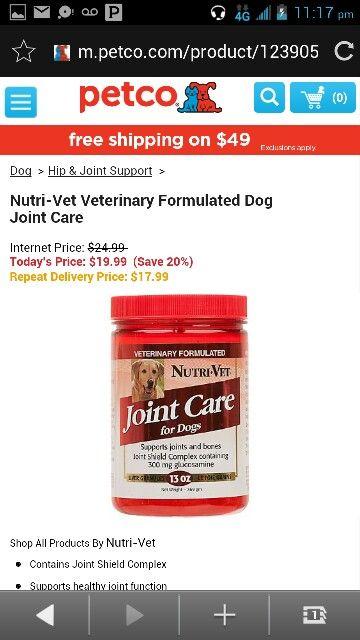 Nutri Vet Veterinary Formulated Dog Joint Care Dog Joint Care Dog Joints Joint Care