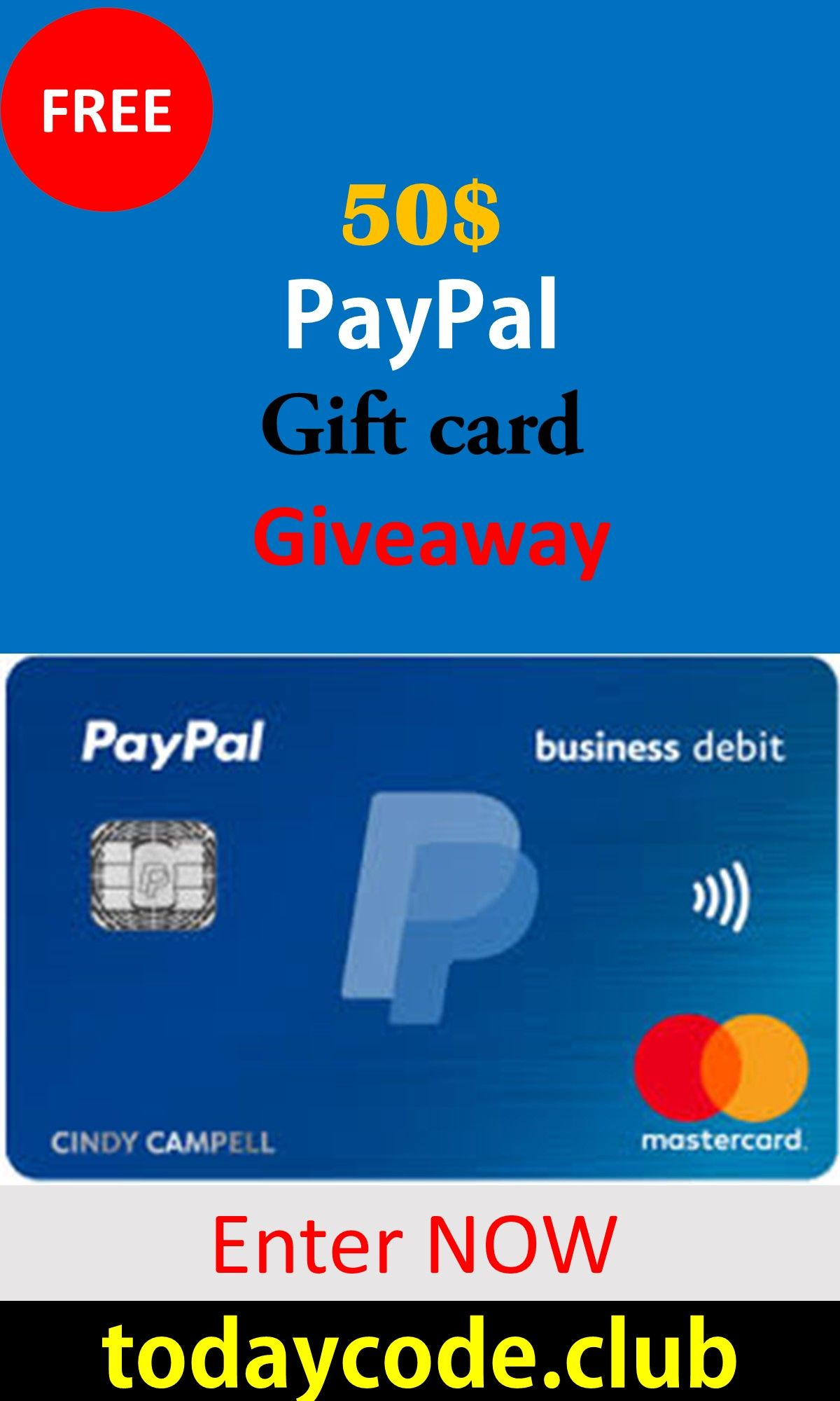 Free Paypal Gift Card How To Get Free Paypal 50 Gift Card Paypal Gift Card Gift Card Exchange Amazon Gift Card Free