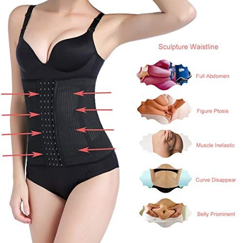 b5fc59f1444 Jusian Women Waist Shapewear Waist Cincher Waist Trainer Corset for Weight  Loss