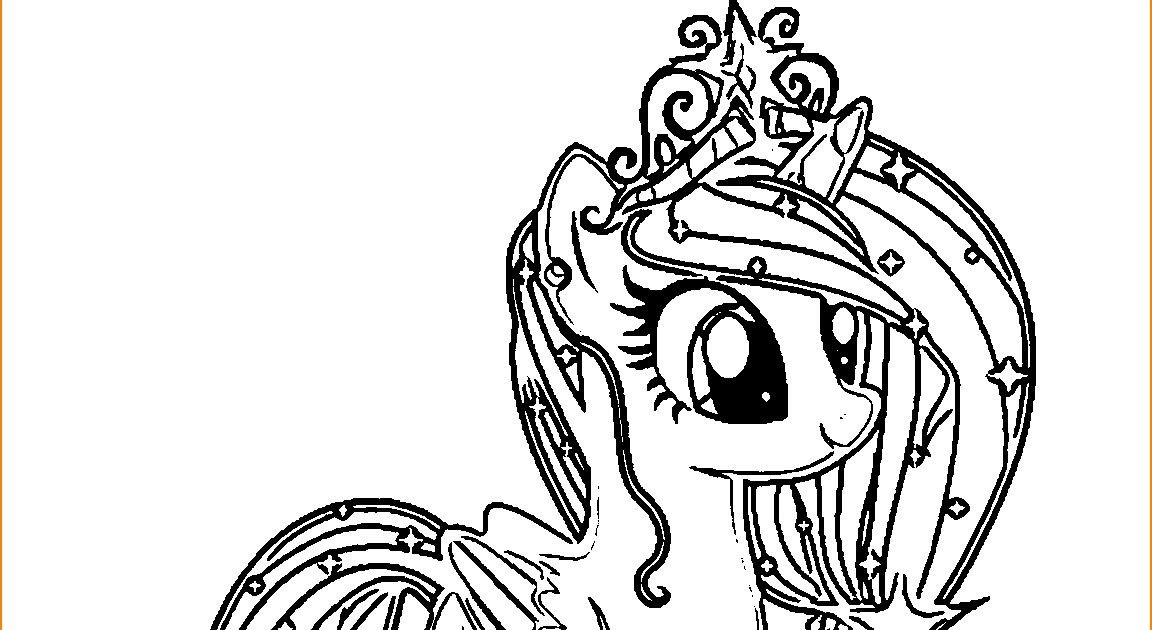 Mewarnai Gambar Kuda Kartun Hitam Putih