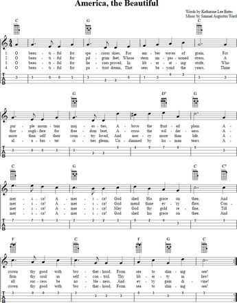 America, the Beautiful Ukulele Tab. PDF download available at http ...