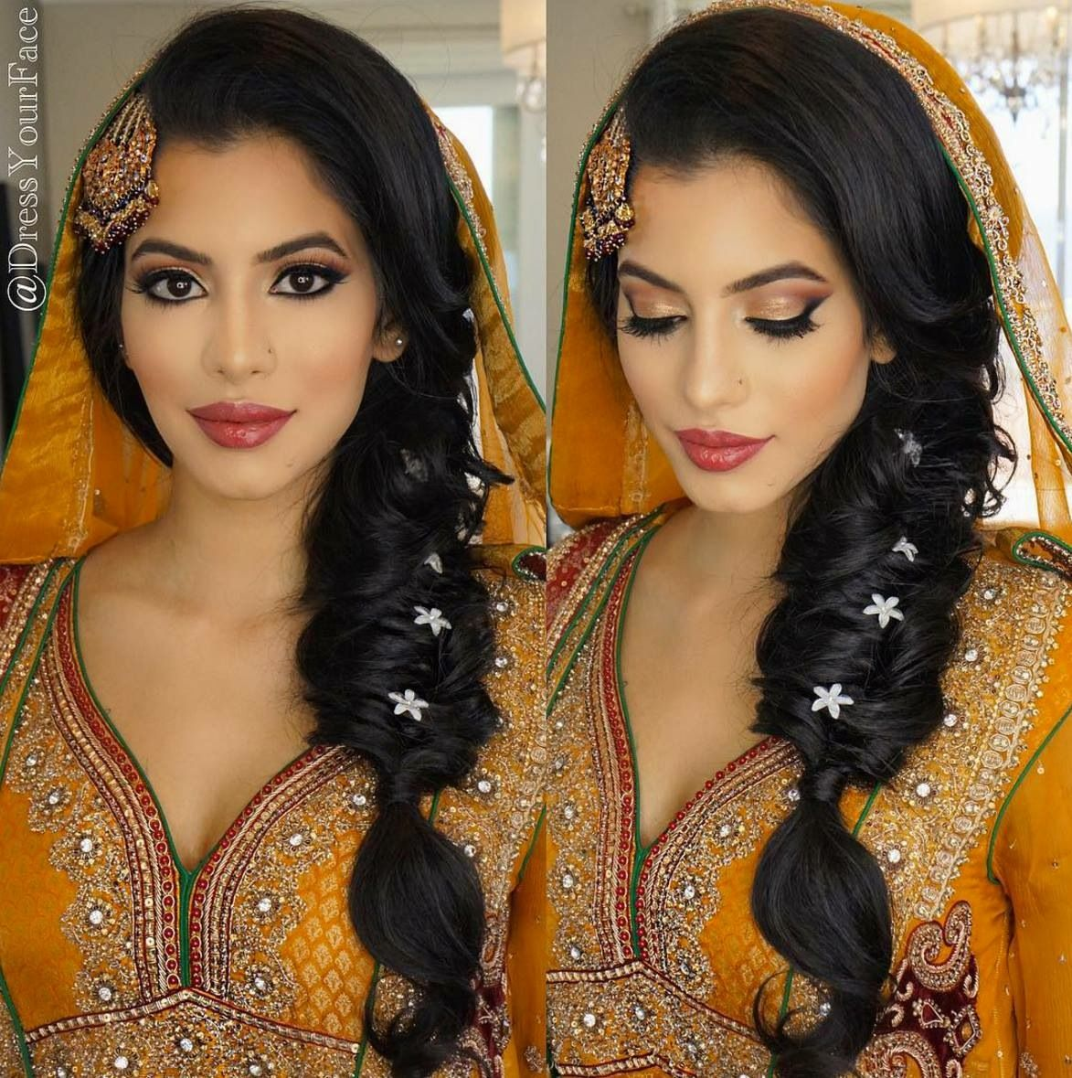 Asian Wedding Hairstyle: Asian Bridal Makeup, Indian