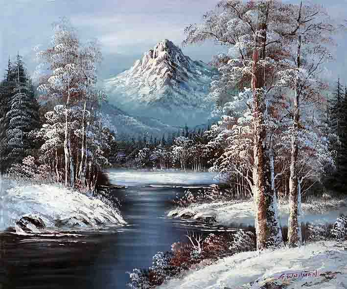 A Canadian Forest Oil Paintings Sale Oil Painting Landscape Winter Painting Contemporary Art Canvas