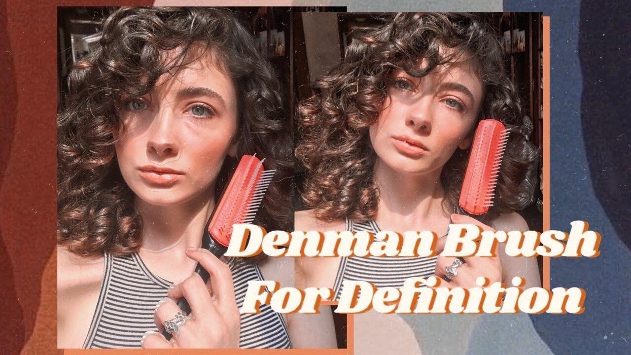 Using The Denman Brush For Curl Definition Denman brush