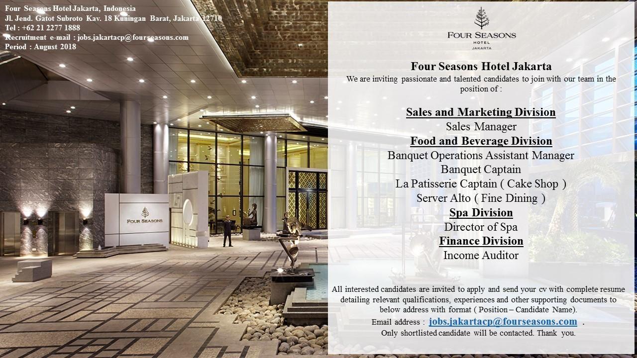 Four Seasons Hotel Jakarta Jobs News 2018