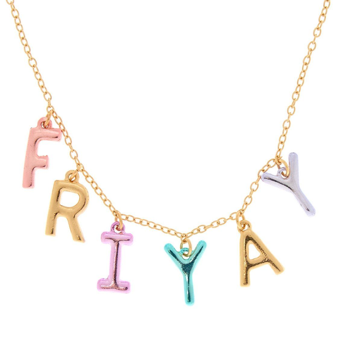 Fri Yay Charm Necklace Cool Necklaces Necklace Charm Necklace