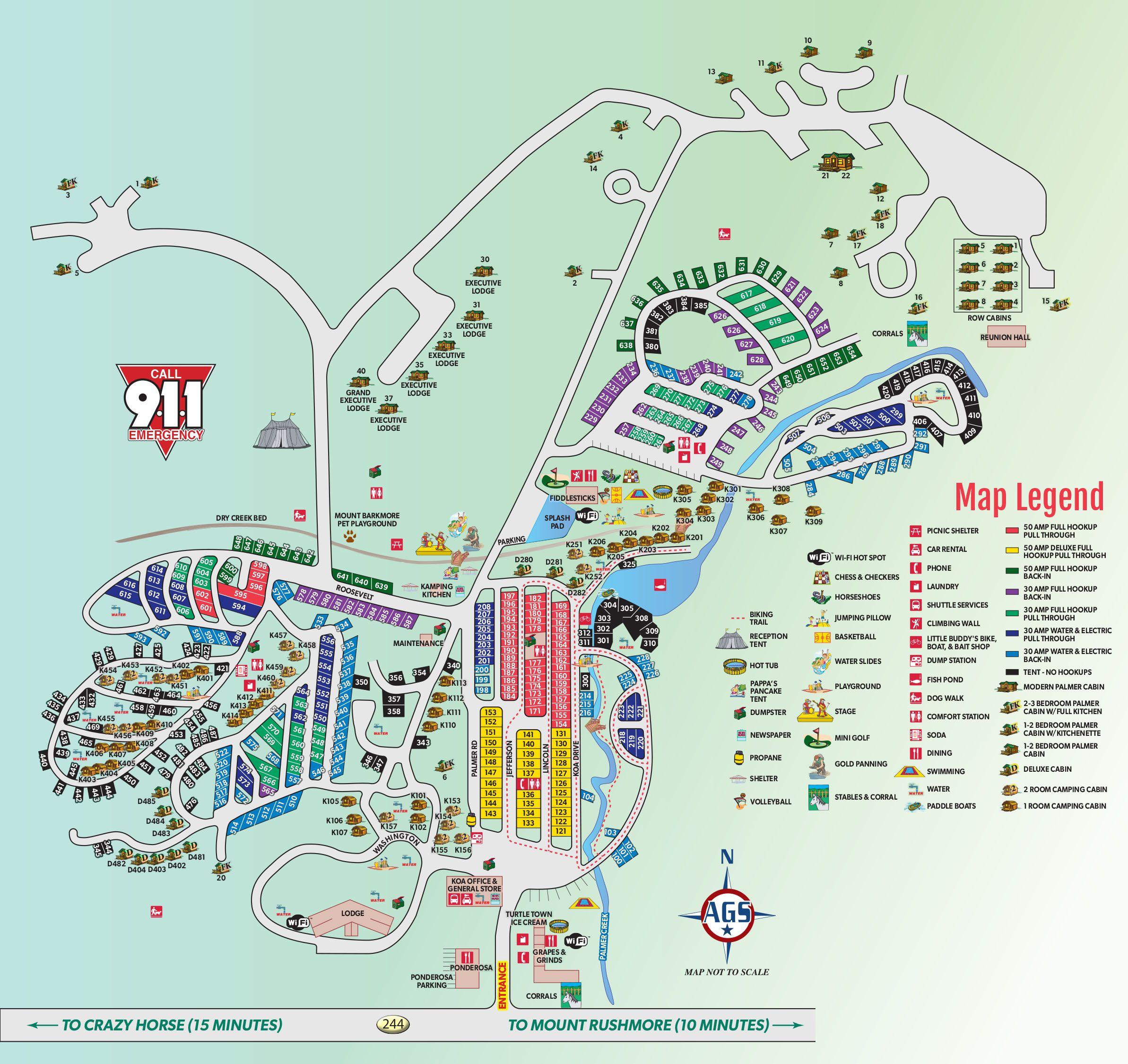 Perdido Key Rv Resort: Campground Site Map