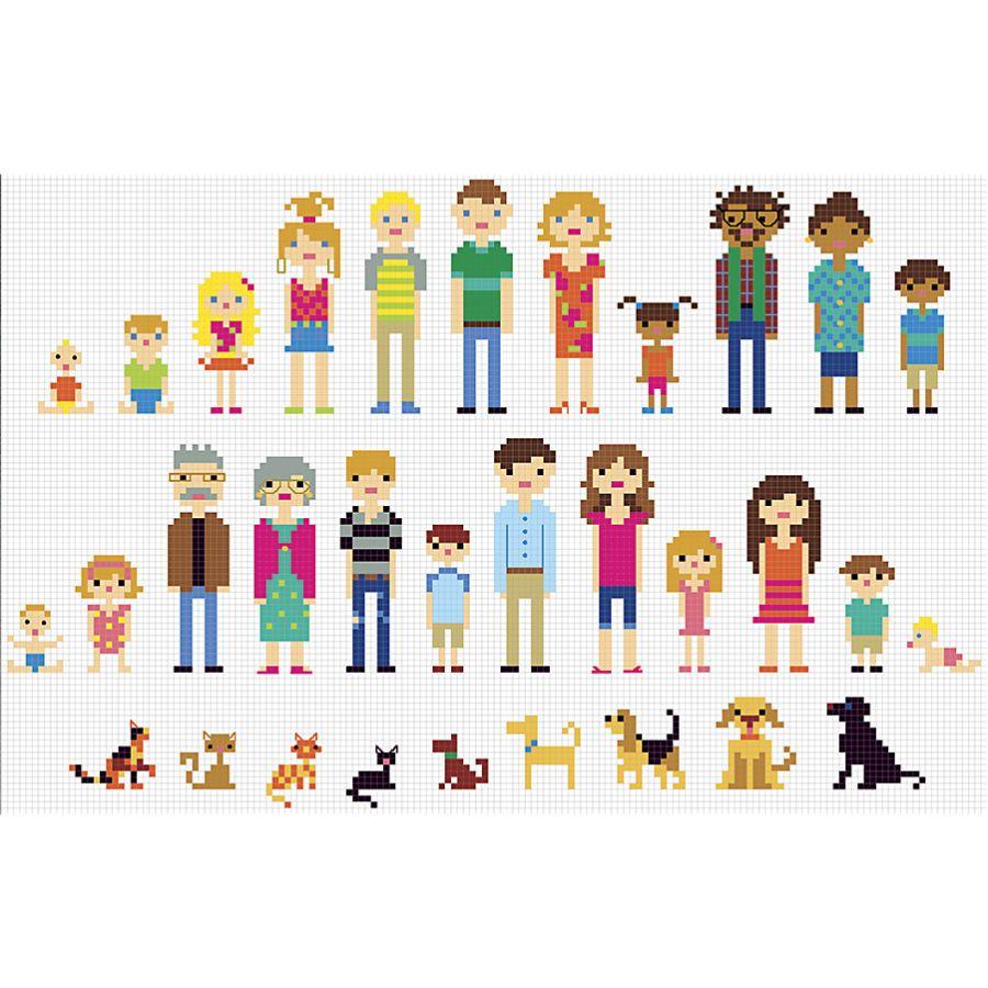 Create A Family Portrait Cross Stitch Family Cross Stitch