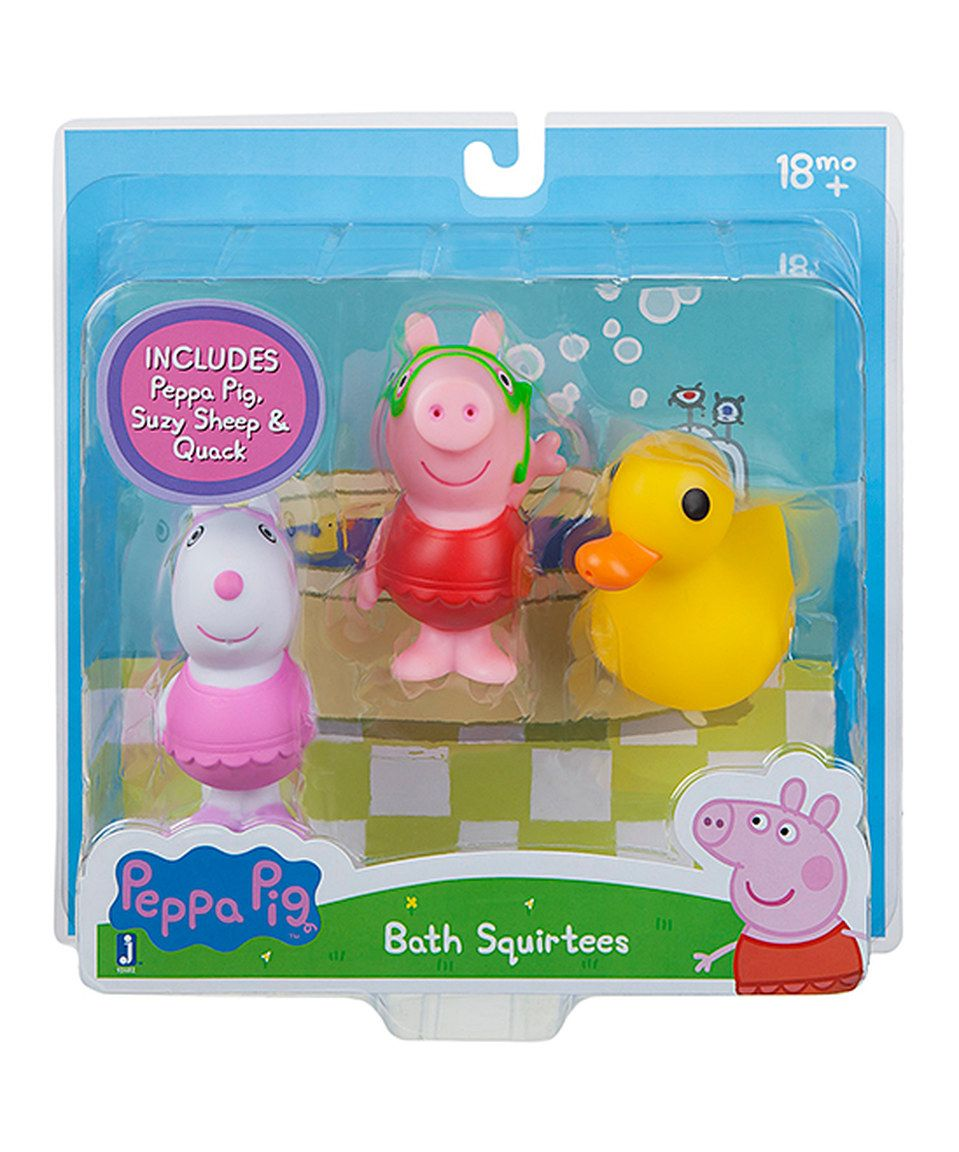 This Peppa Pig Suzy Quack Bath Toy Set By Peppa Pig Is