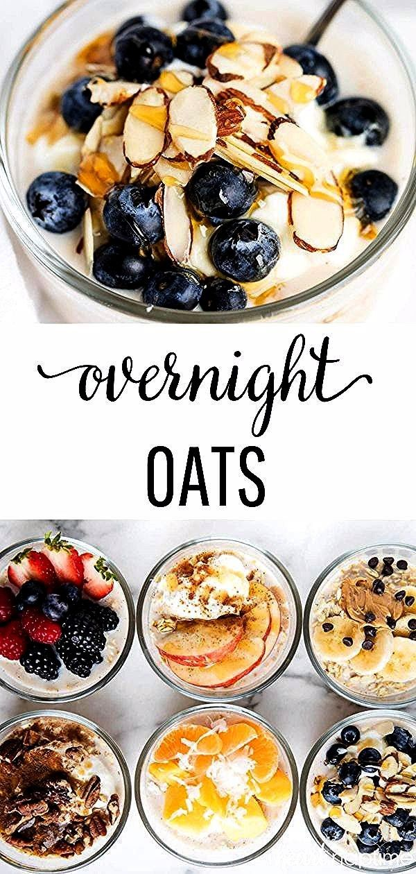 Overnight Oats made 6 different ways Simple customizable and the perfect grab and go breakfastHealthy Overnight Oats made 6 different ways Simple customizable and the per...