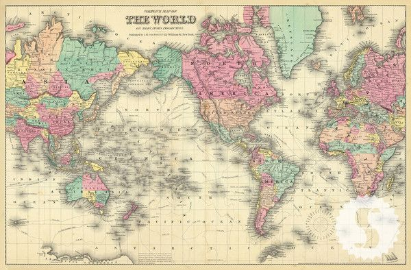 Colorful world map wall mural vintage maps hand drawn and swag colorful world map wall mural gumiabroncs Gallery