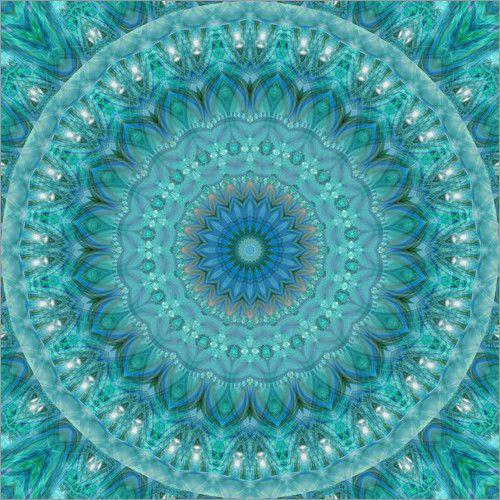 poster mandala leuchtender opal turquoise pinterest t rkis rechnung und sparen. Black Bedroom Furniture Sets. Home Design Ideas