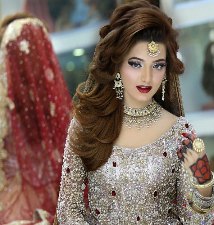 Latest Bridal Hairstyle Picture: Bridal Makeup N Hairstyling By Kashif Aslam At Kashee's