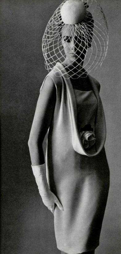 1964. L\'Officiel. Model Australian Maggie Eckhart. Dress by Pierre ...
