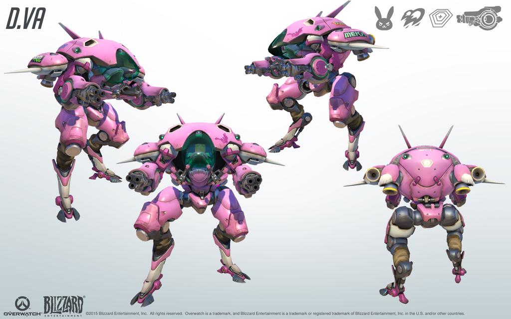 Imgur Post Imgur Overwatch Dva Mech Game Concept Art