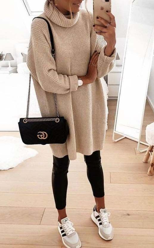 Oversized Cozy up Knit Sweater #winterfashion