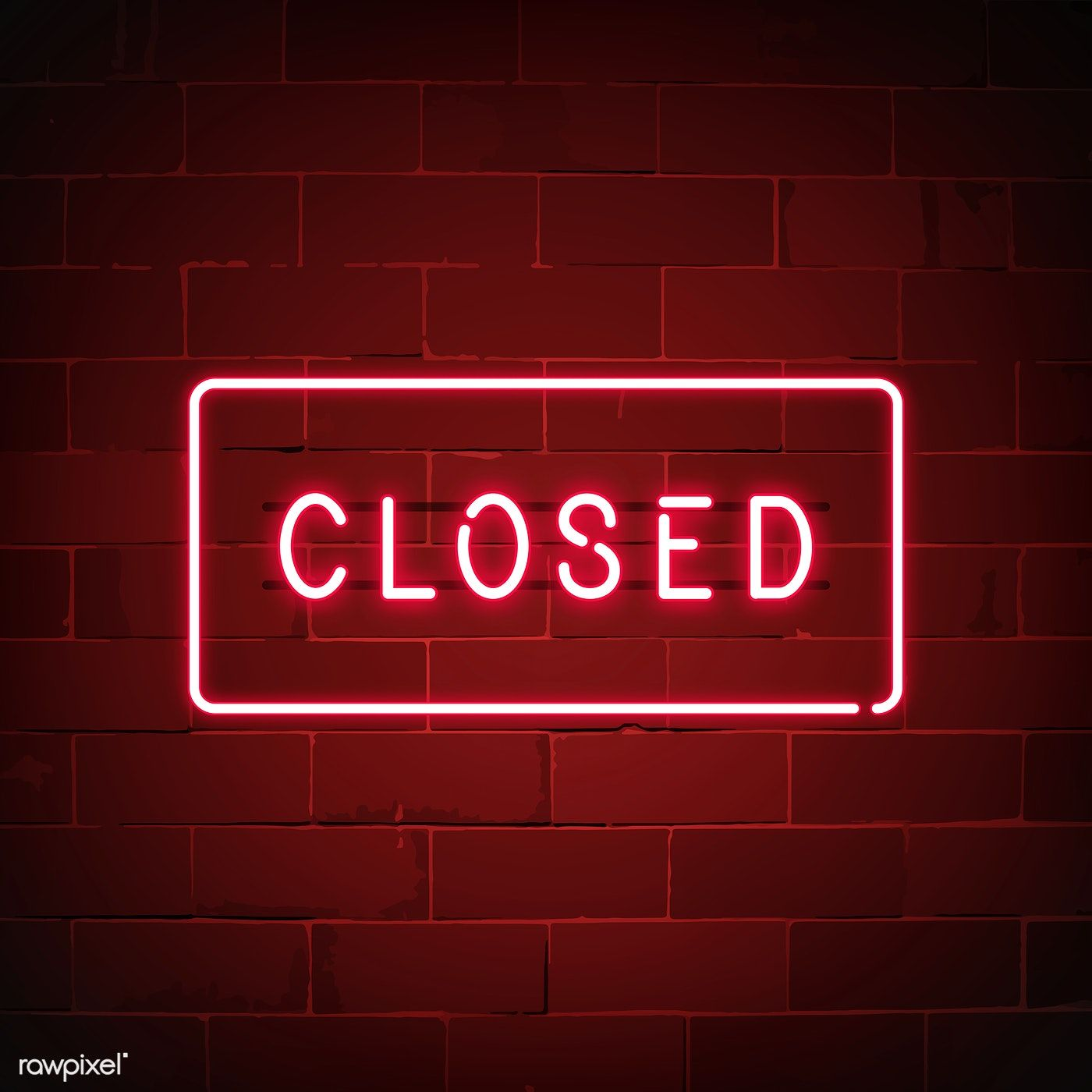 Red Closed Neon Sign Vector Free Image By Rawpixel Com Ningzk V Dark Red Wallpaper Neon Signs Neon