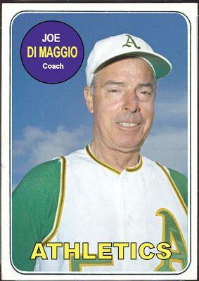 Joe Dimaggio Rookie Card 1969 Topps Joe Dimaggio Joe