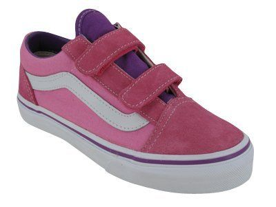 381a5f9d33 Vans Kids s VANS OLD SKOOL V SKATE SHOES 1.5 ((2 TONE) PINK PURPLE) Vans.   29.90