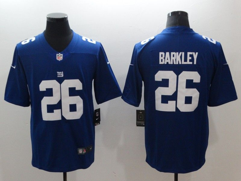 NewYork  Giants  26 Saquon  Barkley Blue 2018 Draft Pick Vapor Untouchable  Stitched Limited Jersey  23 each Place an order can get 1 free gift f188296ed