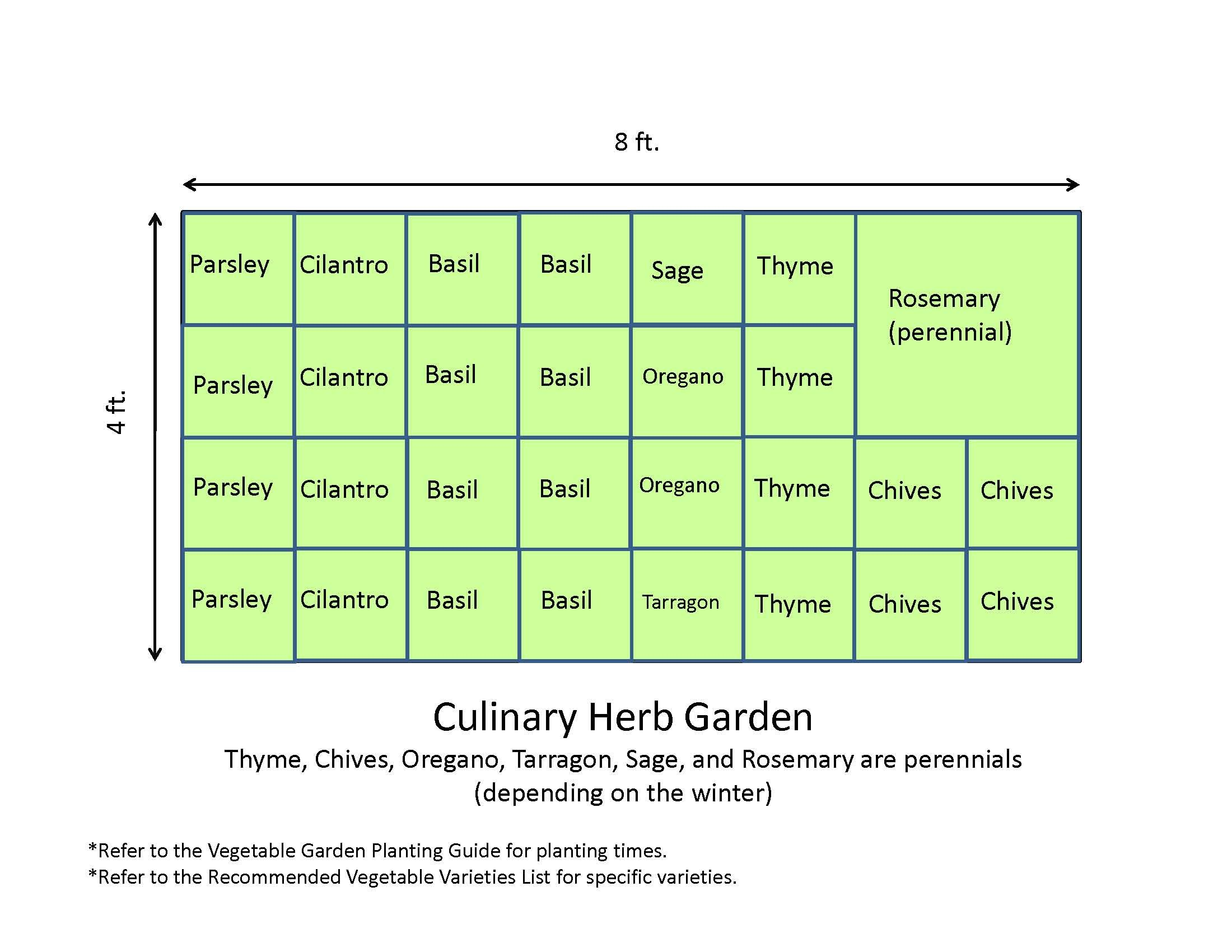 Garden And Patio 4x8 Culinary Herb Garden Layout Plans Ideas For
