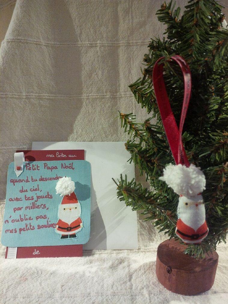Santa gift list and Christmas tree ornament \