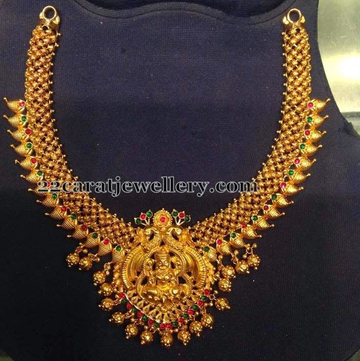 Lakshmi Gold Necklace 55 Grams | Gold necklaces, Gold and Indian ...